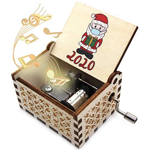 ukebobo Wooden Music Box- Gift for Christmas, Holiday, New Year, Kid, Woman - 1 Set(2020)