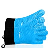 Best Oven Mitts - Walfos Grilling Gloves - Heat Resistant Silicone Oven Review