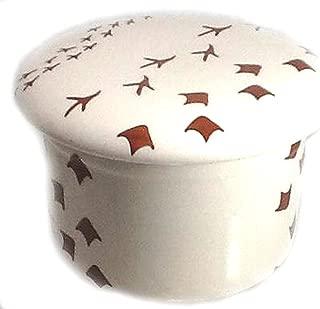 Bird Lover Butter Keeper Crock Dish in Polish Pottery Pattern BIR1 or Bird Tracks