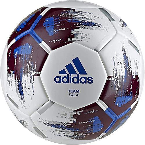 adidas Team Sala, Pallone Unisex Adulto, White/Maroon/Blue/Si, 4