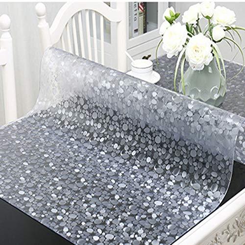 Tafelkleed Zacht Glas Transparant Pvc Tafelkleed Waterdichte Party Bruiloft Thuis Keuken Eettafel Placemat 90x120cm kasseien 1.5mm