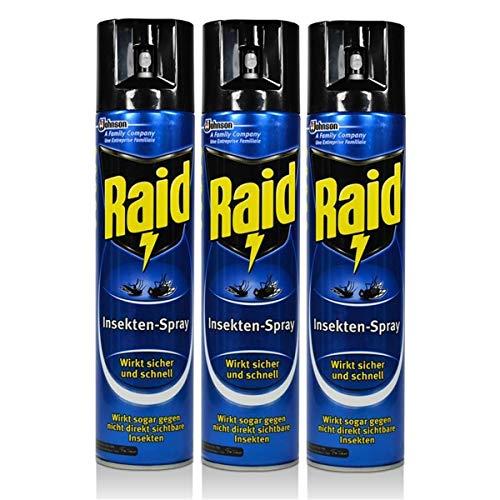 3x Raid Insekten-Spray 400 ml - Wirkt...