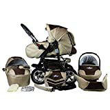 Bergsteiger Milano Kombikinderwagen + Autositz mit Travelsystem (Megaset 10 - teilig); Farbe: Coffee...