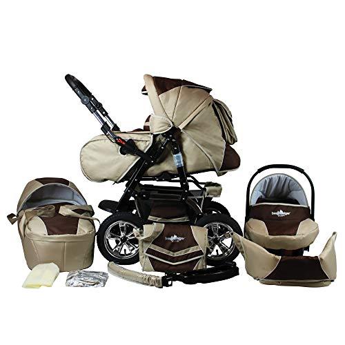 Bergsteiger Milano Kombikinderwagen + Autositz mit Travelsystem (Megaset 10 - teilig); Farbe: Coffee & Brown