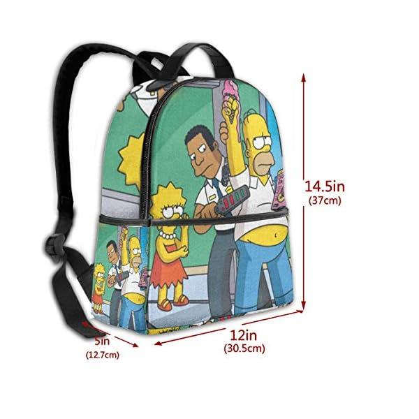 5160sb5lVxL. SS600  - Anime Cartoon Simpsons - Mochila para Estudiantes, Unisex, diseño de Dibujos Animados, 14,5 x 30,5 x 12,7 cm