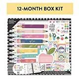 me & my BIG ideas The Happy Planner Box Kit - Teacher's Influence Theme - August 2019 to July 2020 - Monthly Layout - 1 Bookmark, 1 Folder, 3 Sticker Sheets, 2 Rolls Washi Tape - Big Size