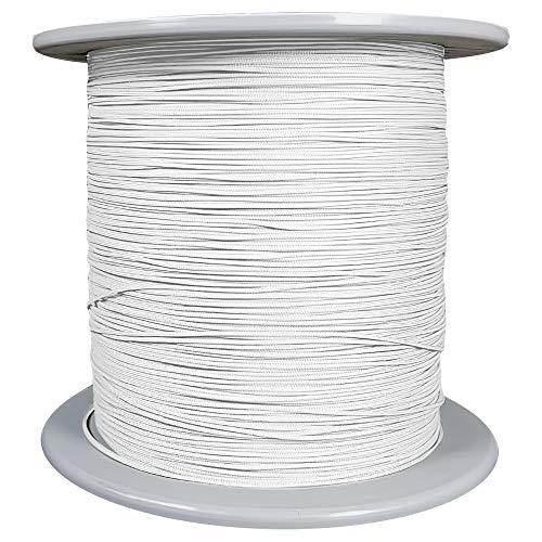 40 Meter Schnur für Plissee 0,8 mm weiß Jalousieschnur Plisseeschnur Zugschnur für Plissee Raffrollo Jalousie Spannschnur Ersatzschnur