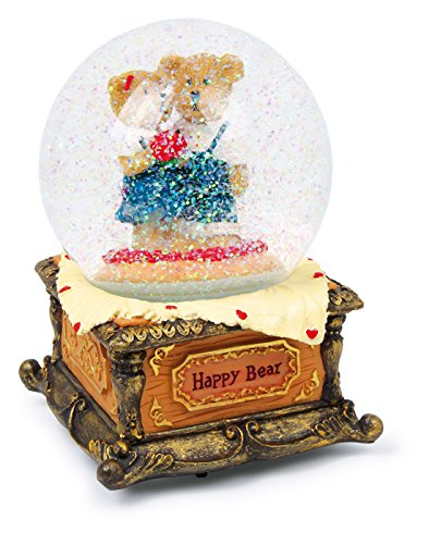 Legler Small Foot Boule de Neige «Happy Bear», Verre, Multicolore, 10.00 x 10.00 x 16.00 cm