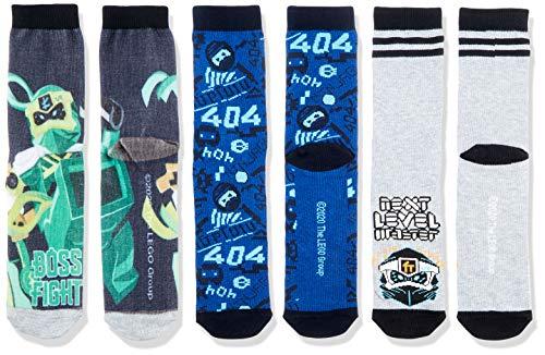 LEGO Jungen MW Ninjago Dreier Pack Socken, 590 Dark Navy, 28/30