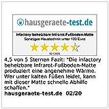 infactory Heizteppich: Beheizbare Infrarot-Fußboden-Matte, Vliesstoff, 105x55cm, 60 °C, 155 W (Fussbodenmatte) - 7