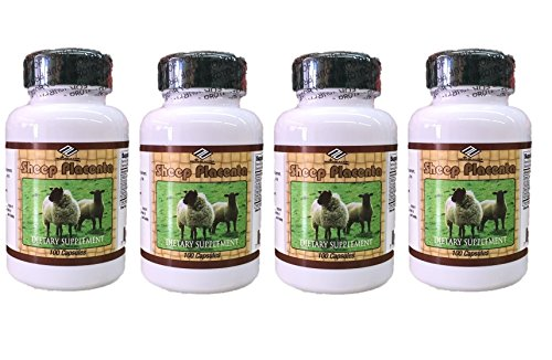 4 bottles Sheep Placenta Complex 100 Capsules/bottle, Make In USA, FRESH, Faster shipping !!