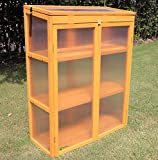 Gardens Imperial Gatcombe 3-tier Wooden Mini Greenhouse with Polycarbonate Panels 82cm (W) x 34cm (D) x 107cm (H)