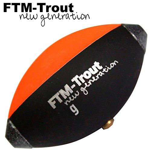 FTM Trout Spotter Signal Ei - Schwimmkugel zum Forellenangeln, Angeln mit Oberflächenmontagen, Forellenpose, Forellenschwimmer, Tragkraft:15g