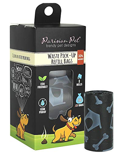 Parisian Pet Dog Poop Bags for Dogs – Refills Rolls of Doggie Bags for Poop – Unscented Dog Poop Bag – Eco-Friendly Pickup Pet Waste Bags, 8 Rolls, Dog House