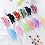12 Pcs Large Hair Claw Clips Nonslip 4.3 Inch Big Banana Hair Claw Clips 6 Candy and 6 Matte Colors for Women Girls