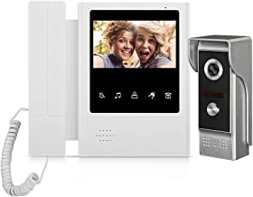 WOLILIWO Wired Video Intercom System, 4.3 Inches Video Doorbell Door Phone System with IR Night Camera Kits Support Unlock...