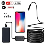 Zacro WiFi Inspection Camera 5 Meters Wireless Endoscope With 8 LED,2 Million Pixel Endoscope Suitable For IOS...