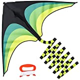 GUJIKE Kites for Kids & Adults Large Easy to Fly with 4m Tail and 300ft Kite String Delta Kite Easy to Assemble ,Great Gift to Kids Childhood Precious Memories