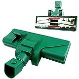 Maxorado - Spazzola aspirapolvere con rotelle, spazzola per pavimenti con attacco compatibile con Vorwerk Folletto 118-119-120-121-122, Vorwerk Tiger 250-251-252