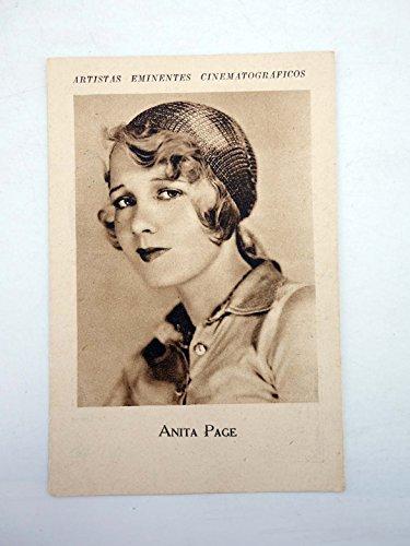 ARTISTAS EMINENTES CINEMATOGRÁFICOS. Anita Page. Tintes Iberia