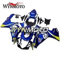 WYNMOTO 青と黄色の外装部品セット適合フィットスズキ GSXR600 GXSR-750 gsx-r600 GSXR750 11 12 13 14 15 16インジェクションプラスチック ABS フェア