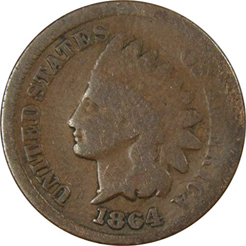 1864 L Indian Head Cent G Good Bronze Penny 1c Coin Collectible