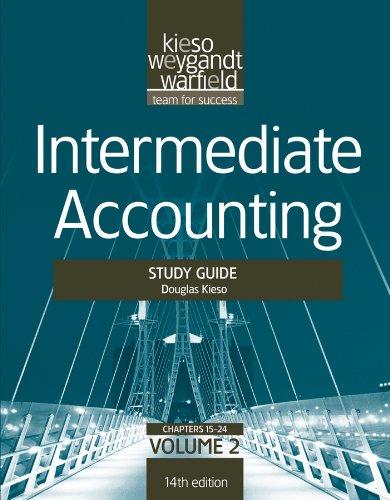 Intermediate Accounting, , Study Guide, Vol. II (Volume 2)