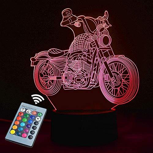USB 16 gradiente Control Remoto Lámpara De Mesa,3D Luz De Noche Mood,LED Ilusión Óptica Lámpara,Decoración Del Dormitorio Para Niños,Cumpleaños/Vacaciones/Navidad/Halloween/Partido Regalos Creativos.