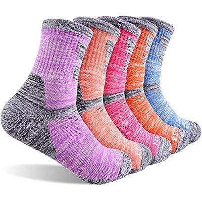 Hiking Walking Socks For Women, FEIDEER Multi-pack Outdoor Recreation Socks Moisture Wicking Crew Socks(5WS19105-M)