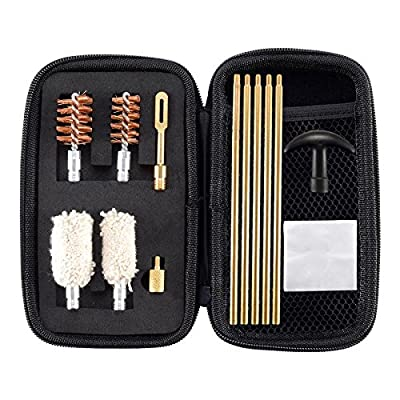 BOOSTEADY Compact Shotgun Cleaning Kit for 12 and 20 Gauge Shotguns Cleaning Kit Brush and Mop