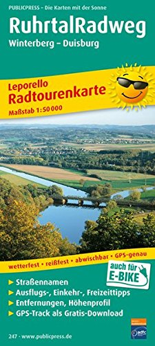 RuhrtalRadweg, Winterberg - Duisburg: Leporello Radtourenkarte mit Ausflugszielen, Einkehr- & Freizeittipps, wetterfest, reissfest, abwischbar, ... GPS-genau (Leporello Radtourenkarte / LEP-RK)
