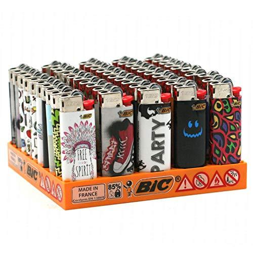 BIC - Assortiment de 50 Briquets Mini BIC Décor