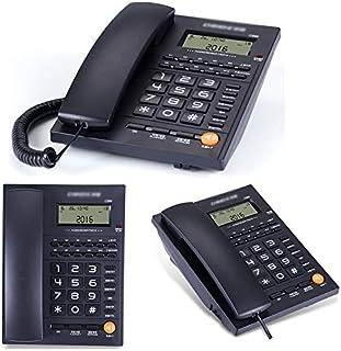 ホームシニア電話オフィス固定電話ホテル客室発信者番号表示ハンズ付きスタンドアロン電話-無料ダイヤル機能ミュートコード付き電話