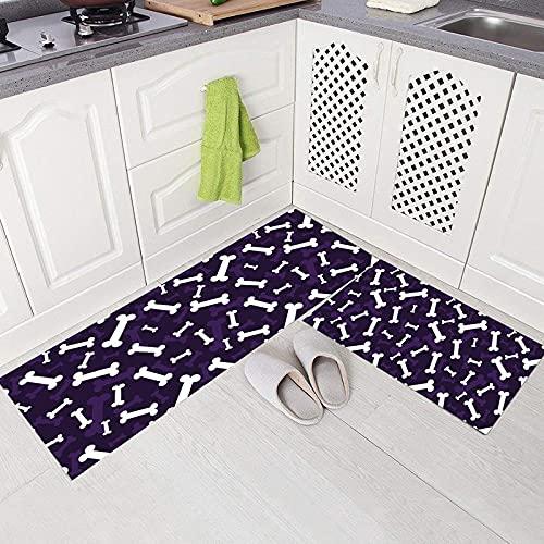 HLXX Alfombrilla de Cocina Alfombrillas de Estilo de Dibujos Animados Bonitos absorbentes Antideslizantes Decorativos para Sala de Estar Felpudo para el hogar A2 50x80cm + 50x160cm
