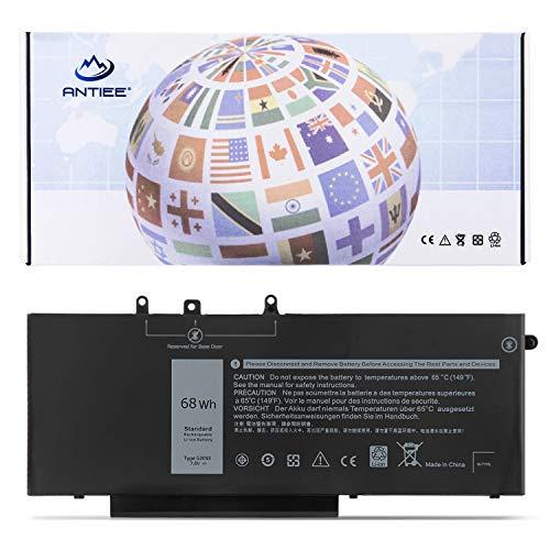 ANTIEE - Batería de repuesto para portátil Dell Latitude 5480 5580 5280 5590 5490 E5480 E5580 E5490 E5490 E5590 Precision 15 3520 3530 Series GD1JP 0GD1JP DY9NT 5YHR4 451-BBZG (7,6 V, 4 celdas)