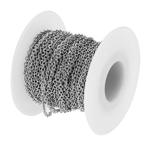 kowaku 1 Rollo de Eslabones de Cadena de Acero Inoxidable de 12 M a Granel para Collares Y Joyas