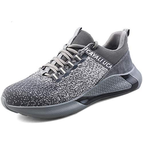 UCAYALI Zapatillas de Seguridad Mujer Zapatos de Trabajo Hombre Calzado de Seguridad con Punta de Acero Zapatos Protección Cómodo Gris Gr.39
