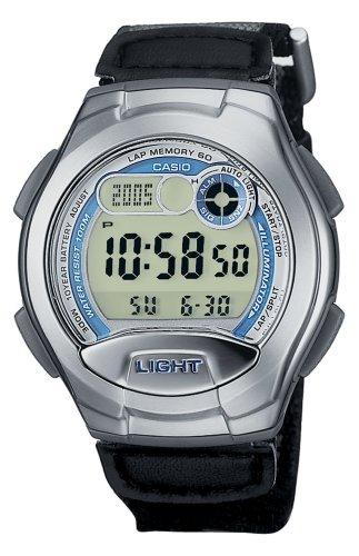 Casio W-752V-8AVEF - Reloj Digital de Cuarzo para Hombre con Correa de Tela, Color Negro