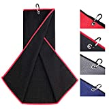Champkey 16' x 21' Premium Tri-Fold Waffle Golf Towels   Superior Water Absorption and Quick Dry Golf Cleaning Towel