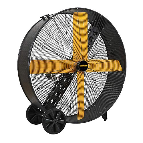 MASTER 48 Inch Industrial High Capacity Barrel Fan - Belt Drive, All-Metal Construction with OSHA-Compliant Safety Guards, 2 Speed Settings (MAC-48-BDF)
