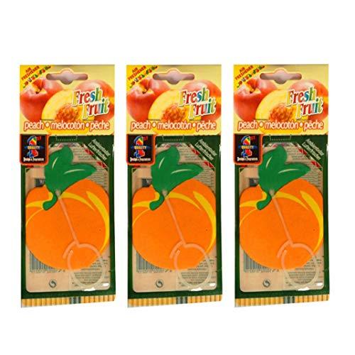 YSHtanj Auto-Lufterfrischer Innendekoration mit Obstduft und Papieranhänger zum Aufhängen, Autoduft, 3 Stück