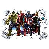 ZI XIN Superhero Wall Stickers Avengers Wall...