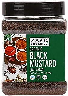 Zayd Organics Black Mustard Seeds, Rai Sarson, Rai Seeds, USDA Organic, 20oz (567g)