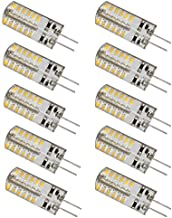 Led bulbs, 10packs LED G4 Bulbs 3Watt 12V, 48 LED Light Bulbs Of 220Lumens 3014 SMD [Energy Class A+] led lights ( Color :...
