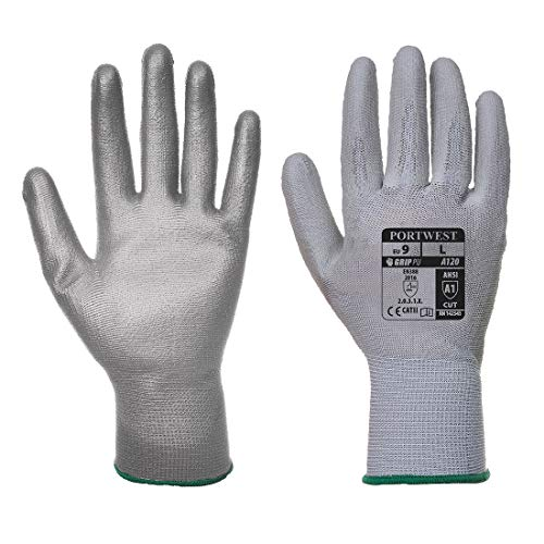Portwest A120 - Handschuh PU Palm, XL, grau