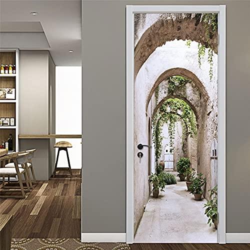 Fresh Rose Doors Sticker Carta da parati adesiva Vinile rimovibile Decalcomanie impermeabili Decorazione Della Stanza Poster A3 77x200cm