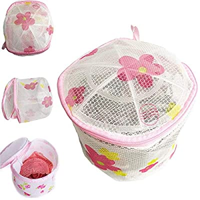 Grids London Ltd Washing Bag Lingerie Laundry Zipped Mesh Net Ladies Women Cylinder Hosiery Bra Delicate Machine Wash