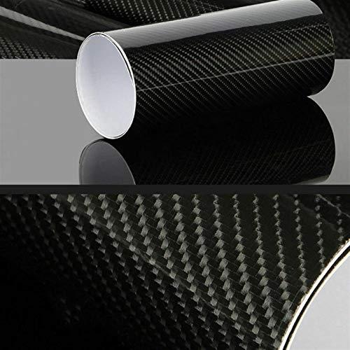 EWDF 30 * 152cm Coche 7D Pegatina Fibra de Carbono Impermeable Vinilo Auto Envoltura Protectora Película Protectora PVC Unviersal Pegatinas Decorativas Vinilo Película DIY