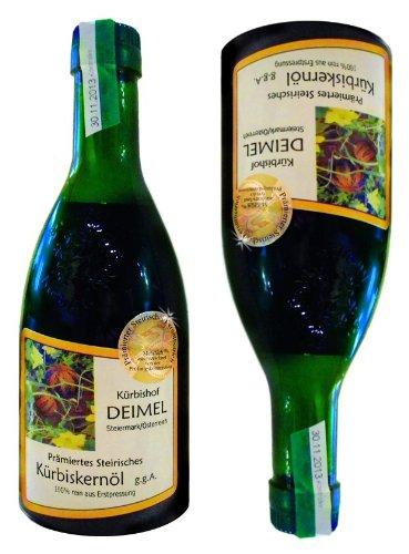 Günstiges Probierangebot 2x500 ml Kürbishof DEIMELs Steirisches Kürbiskernöl ggA. Direkt von uns als Erzeuger geliefert. Das Original Kürbisöl 100% rein! Kürbishof DEIMEL wurde prämiert durch Gault&Millau Österreich und ist prämierter Erzeuger von St