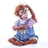 21 Pulgadas 52 CM Realista Sonriente Mono Reborn Baby Dolls Muy Suave Silicona Vinilo Orangután Muñe...